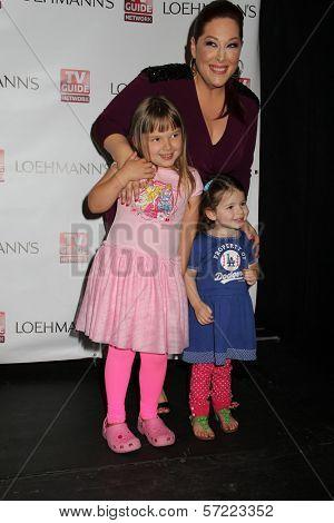 Carnie Wilson and her daughters Lola Sofia Bonfiglio and Luciana Bella Bonfiglio at the