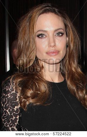 Angelina Jolie at the 23rd Annual Producers Guild Awards, Beverly Hilton, Beverly Hills, CA 01-21-12