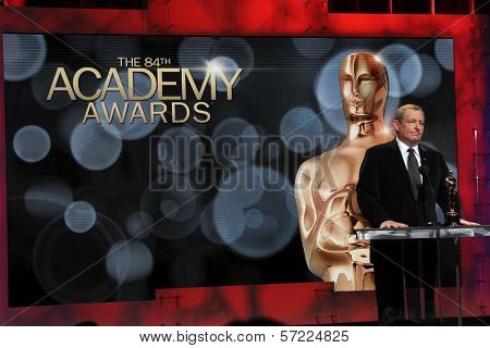 Tom Sherak at the 84th Academy Awards Nominations Announcement, Academy of Motion Picture Arts and Sciences, Los Angeles, CA 01-24-12
