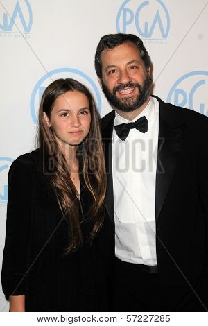 Judd Apatow, Maude Apatow at the 23rd Annual Producers Guild Awards, Beverly Hilton, Beverly Hills, CA 01-21-12