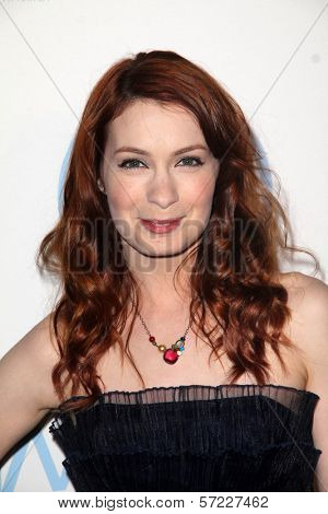 Felicia Day at the 23rd Annual Producers Guild Awards, Beverly Hilton, Beverly Hills, CA 01-21-12