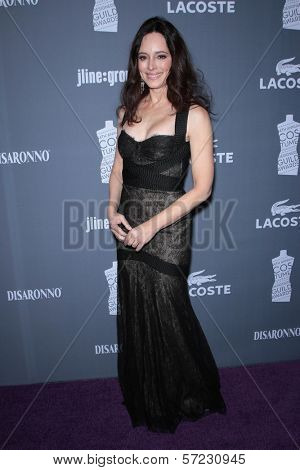 Madeleine Stowe at the 14th Annual Costume Designers Guild Awards, Beverly Hilton Hotel, Beverly Hills, CA 02-21-12