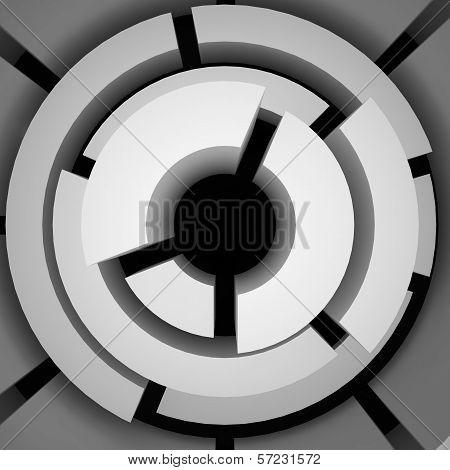 Abstract maze, 3d