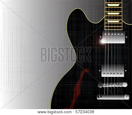 Old Grunge Blues Guitar