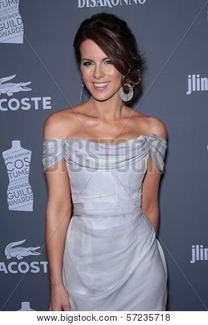 Kate Beckinsale at the 14th Annual Costume Designers Guild Awards, Beverly Hilton Hotel, Beverly Hills, CA 02-21-12
