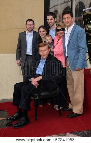Sumner Redstone and family at the Sumner Redstone Star on the Hollywood Walk of Fame Ceremony, Hollywood, CA 03-30-12