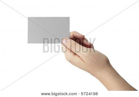 Gray Blank Business Card