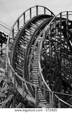 Roller Coaster B&W