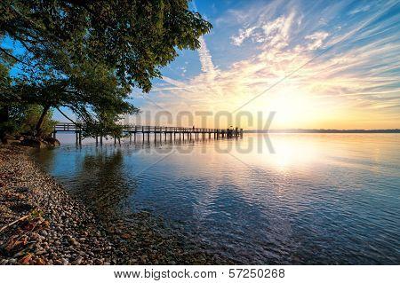 Sunset On Starnberger See