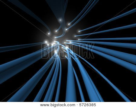 In Flow Of Glowing Fiber