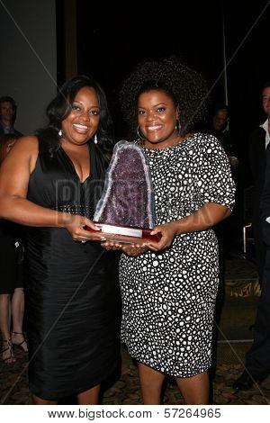 Sherri Shepherd and Yvette Nicole Brown  at the 2010 BraveHeart Awards, Hyatt Regency Century Plaza Hotel, Century City, CA.  10-09-10