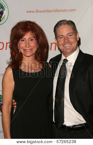 Suzanne DeLaurentiis, David Adams  at the 2010 BraveHeart Awards, Hyatt Regency Century Plaza Hotel, Century City, CA.  10-09-10