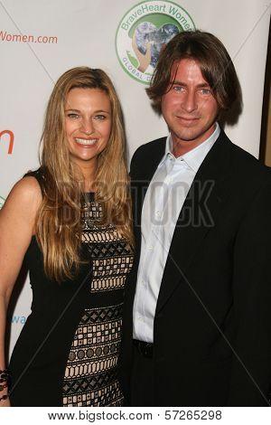 Dr. Kristi Funk and husband at the 2010 BraveHeart Awards, Hyatt Regency Century Plaza Hotel, Century City, CA.  10-09-10