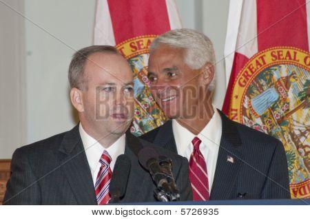 Florida Senator George LeMieux & Gov. Charlie Crist