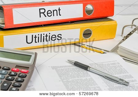Folders with the label Rent and Utilities