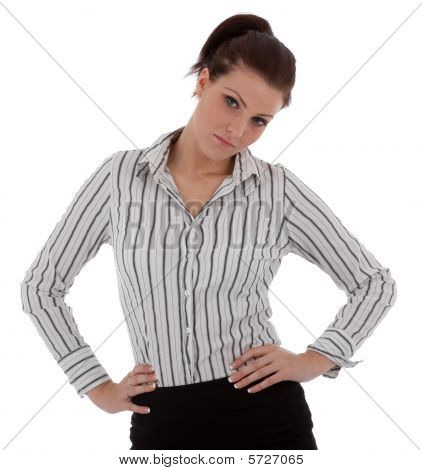 I Businesswoman Is Unhappy Or Disappointed