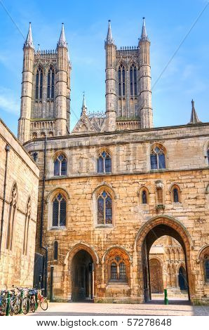 Castle Square And Lincoln Cathedral