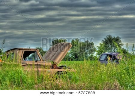 Wrecked Vehicles In Hdr