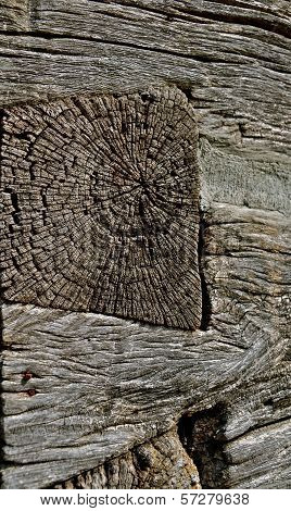 Weathered Dovetail Log Cabin Joint