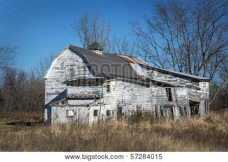 Vintage White Barn
