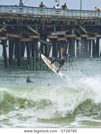Surfer gets Air