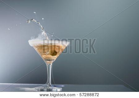 Smoking Martini Cocktail