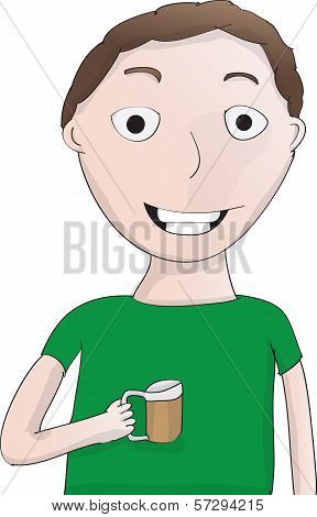 Nerdy Guy With Beer