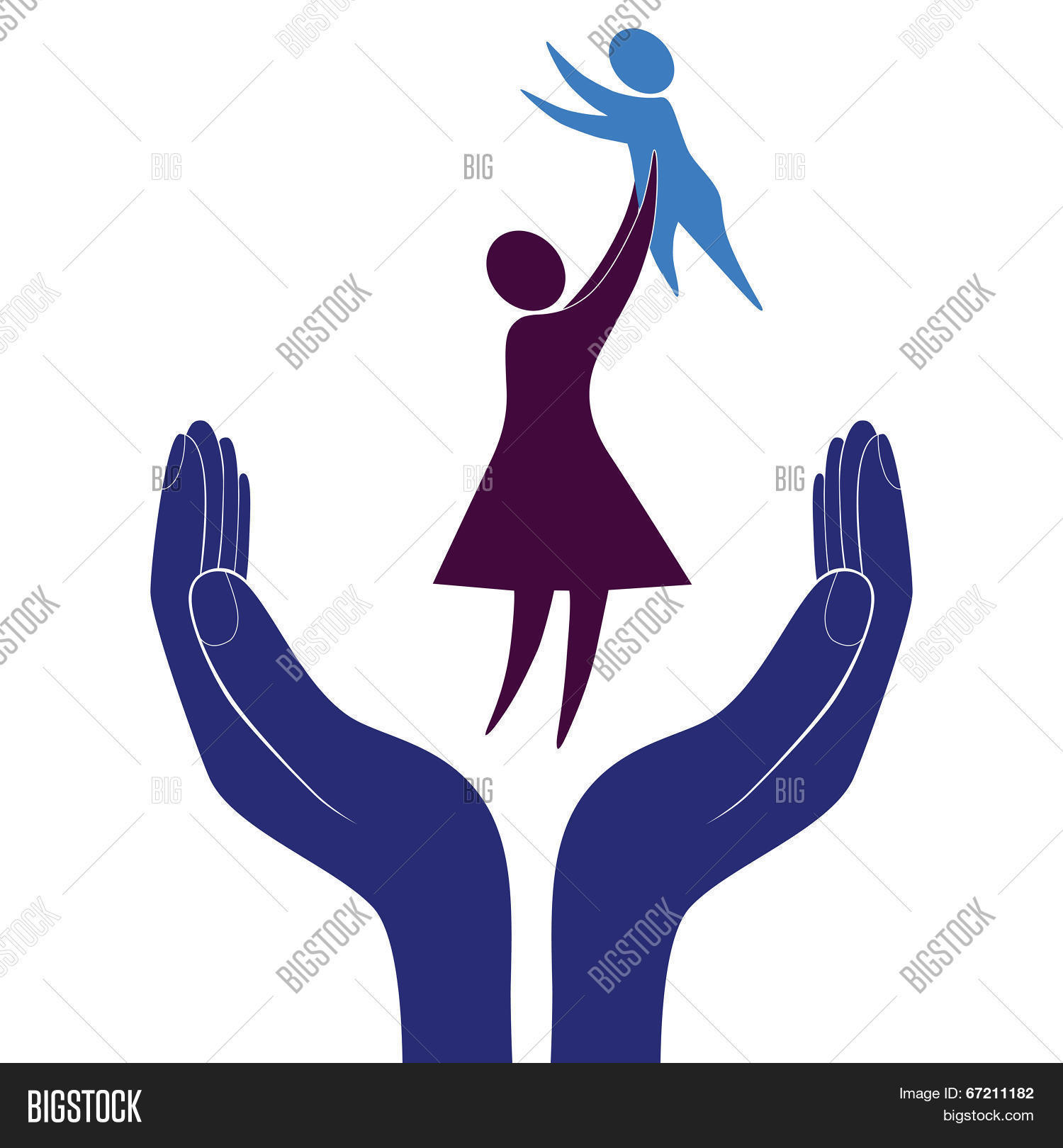 Mother Child Symbols Vector Photo Free Trial Bigstock