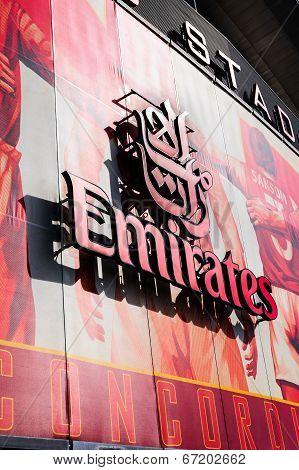 Front facia of The Emirates Stadium