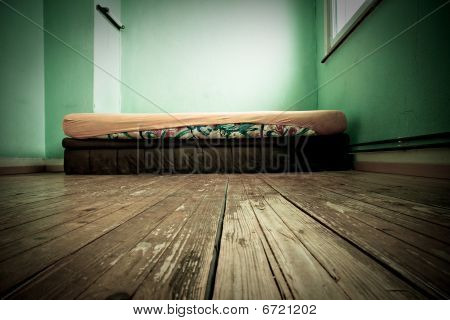Mattress In Green Painted Room