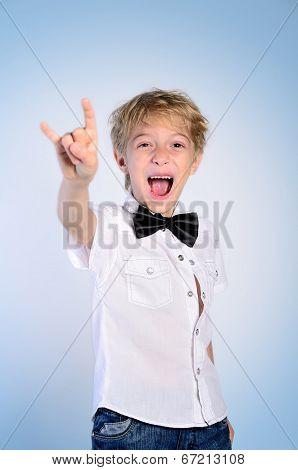 Young Rocker Boy