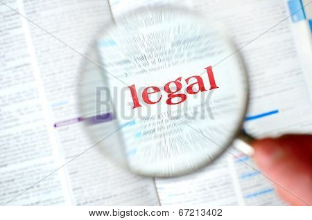 Magnifying Legal Word