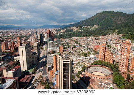 View of Bogota center, Colombia