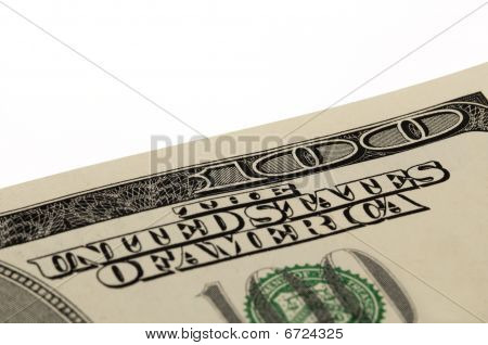 Us One Hundred Dollar Bill Macro