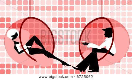 Flirting  couple