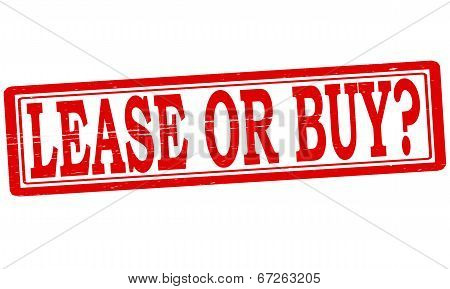 Stamp with text lease or buy inside vector illustration poster