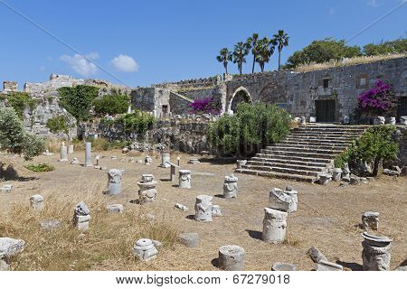 Nerantzia castle at Kos island, Greece
