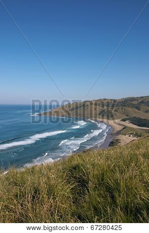 View From Cliffs Of Wild Coast Beach, Transkei, South Africa