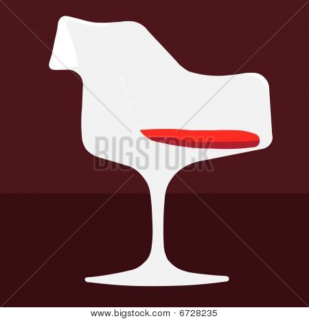 Chair tulip vector illustration art