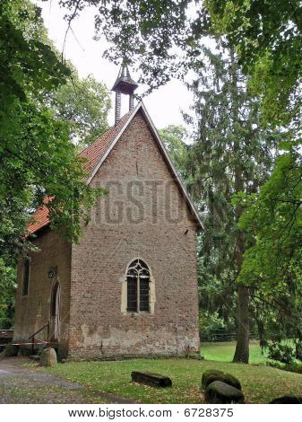 Brick stone chapel with bell