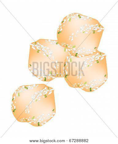 Deep Fried Sweet Potato Balls With Powdered Sugar