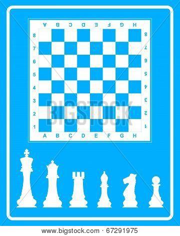 White Icon Of Chess