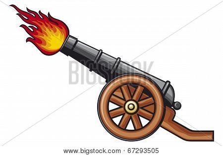 old artillery cannon