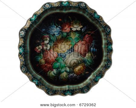 Russian National Tray For Utensils