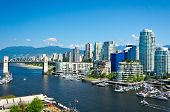 Beautiful view of Vancouver British Columbia Canada poster