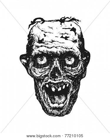 Zombie. Hand drawn. Vector illustration