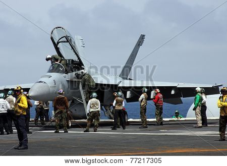 United States Navy F-18 Super Hornet Fighter Jet