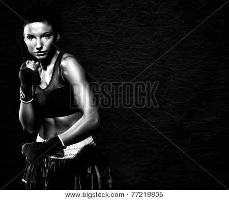 Woman Boxer Posing