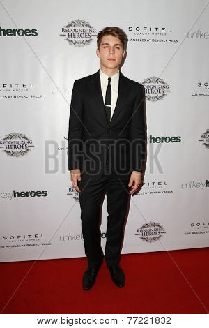 LOS ANGELES - NOV 8:  Nolan Gerard Funk at the 3rd Annual Unlikely Heroes Awards Dinner And Gala at the Sofitel Hotel on November 8, 2014 in Beverly Hills, CA