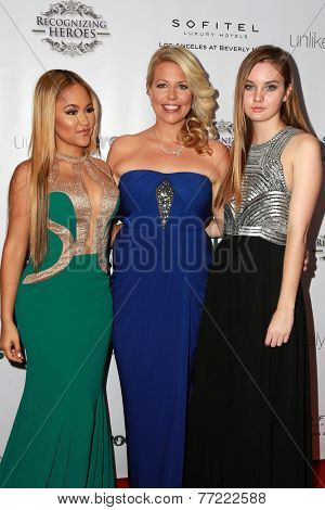 LOS ANGELES - NOV 8:  Kat DeLuna, Erica Greve, Liana Liberato at the 3rd Annual Unlikely Heroes Awards Dinner And Gala at the Sofitel Hotel on November 8, 2014 in Beverly Hills, CA
